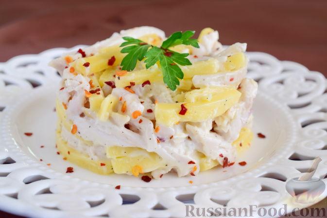 как приготовить кальмаровый салат с сыром