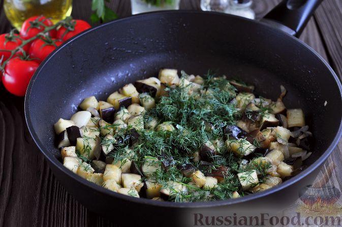 Фото приготовления рецепта: Салат из баклажанов и яиц - шаг №4