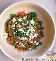 Фото к рецепту: Ризотто из перловки, с горошком и сыром