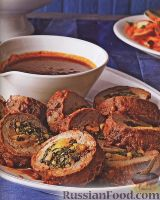 Фото к рецепту: Рулетики из говядины
