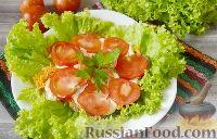 Фото к рецепту: Салат из кабачков с помидорами