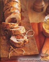 Фото к рецепту: Рулет из свинины с клюквой
