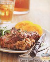 Фото к рецепту: Жареная свинина с ветчиной