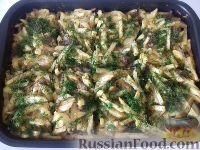 Фото к рецепту: Картофель, запечённый с мясом (эконом-блюдо)