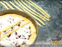 """Фото приготовления рецепта: Пирог """"Вишневый сад"""" с вишней - шаг №12"""