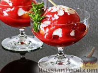 """Фото к рецепту: Десерт """"Персик Мельба"""""""