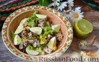 Фото к рецепту: Салат с сардинами и кукурузой