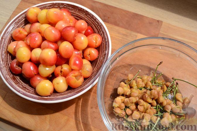 Фото приготовления рецепта: Варенье из белой черешни, с лимоном - шаг №2