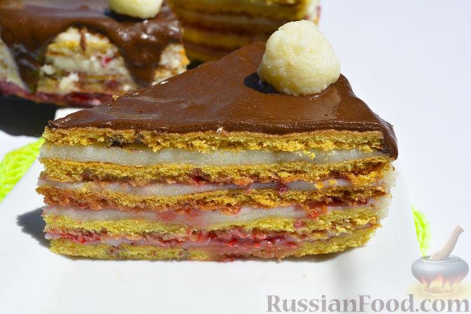 Медовый торт с манкой рецепт с фото