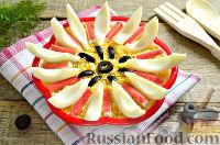 Фото к рецепту: Салат на день рождения, с крабовыми палочками и яблоком