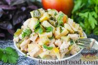 Фото к рецепту: Салат из курицы, огурцов и яблок