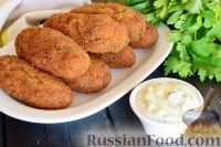 Фото к рецепту: Котлеты из рыбного филе, с овсяными хлопьями