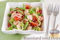 Фото к рецепту: Салат с тунцом, нутом и стручковой фасолью