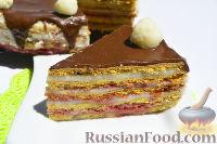 """Фото к рецепту: Медовый торт """"Стефания"""" с кремом из манки"""