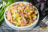 Фото к рецепту: Салат с копчёной колбасой