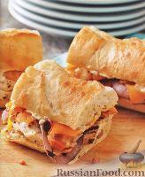 Фото к рецепту: Горячие бутерброды с курицей