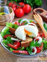 Фото к рецепту: Салат с яйцом всмятку