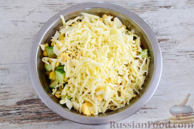 Салаты с яйцами кукурузой рецепты с