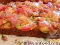 Фото приготовления рецепта: Горячие бутерброды (мини-пиццы) - шаг №9