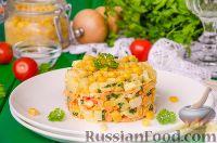 Фото к рецепту: Салат с крабовыми палочками и морковью по-корейски