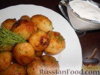 Фото к рецепту: Молодой картофель, жаренный в соевом соусе