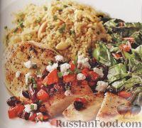 Фото к рецепту: Куриное филе с кускусом