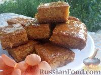 Фото к рецепту: Пирог из манной крупы (шамали)