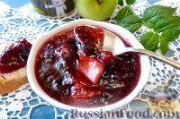 Фото к рецепту: Варенье из клюквы с яблоками и имбирём