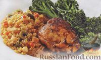 Фото к рецепту: Курица по-мароккански с кускусом и брокколи