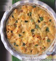Фото к рецепту: Цветная капуста, запеченная в ароматном молочном соусе
