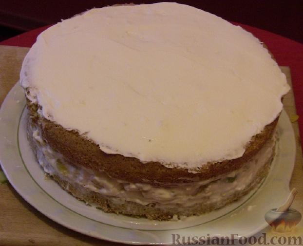 Бисквитный торт с зефиром и фруктами рецепт с фото