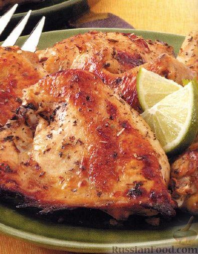 Рецепт Курица с пряностями и соком лайма