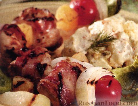 Рецепт Кебаб из курицы с ананасами