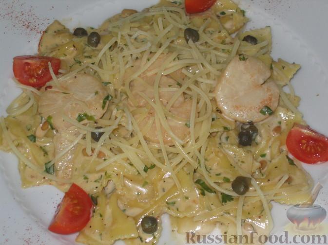 Рецепт Паста фарфале с морскими гребешками