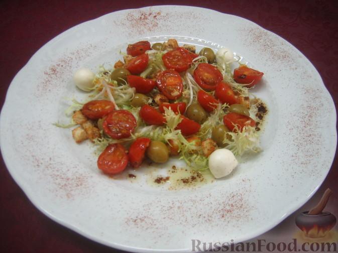 Рецепт Салат с поджаренными помидорами