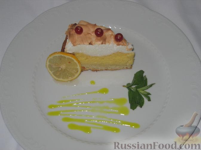 Рецепт Пирог с безе и лимонным кремом (Crostata meringata con crema al limone)