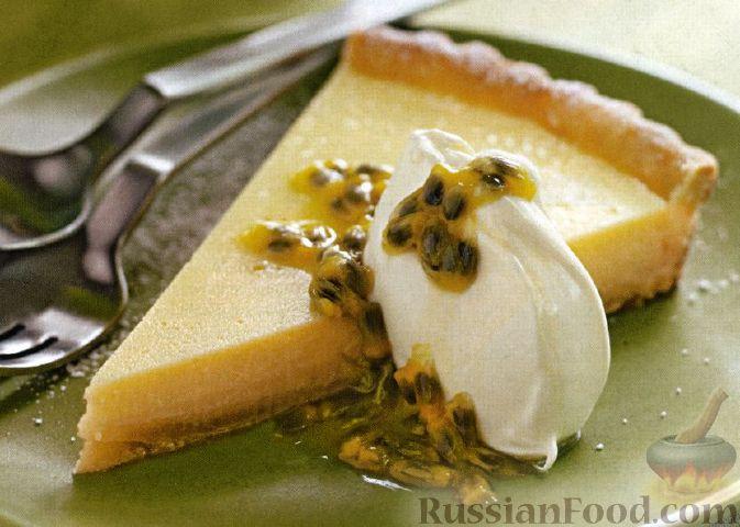Рецепт Пирог с лаймом и маракуйей