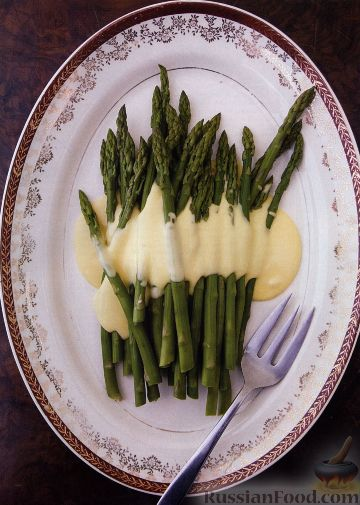 Рецепт Спаржа под голландским соусом