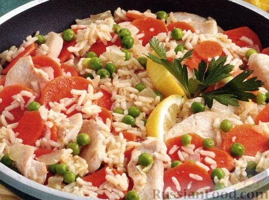 Рецепт Курица с рисом и лимоном
