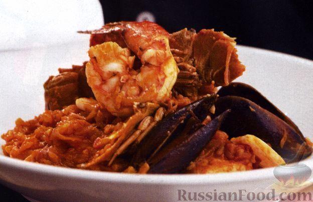 Рецепт Рис с морепродуктами по-португальски