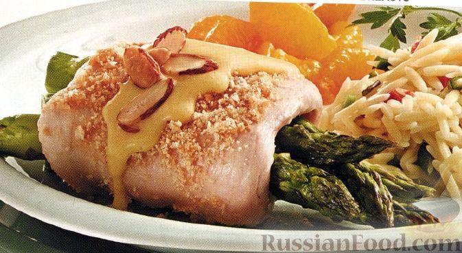 Рецепт Куриные грудки со спаржей под голландским соусом