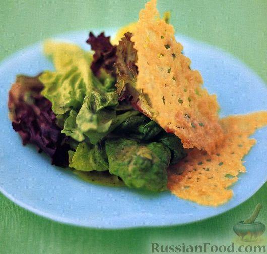 Рецепт Салат-латук с хрустящим сыром