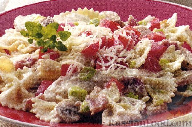 Рецепт Фарфалле с курицей и сливочным соусом