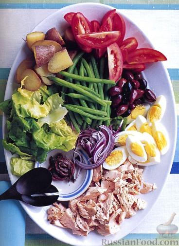 Рецепт Салат «Нисуаз» с лососем