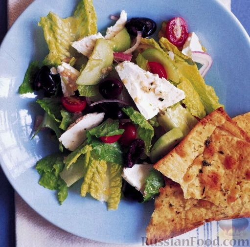 Рецепт Салат Греческий с лавашом