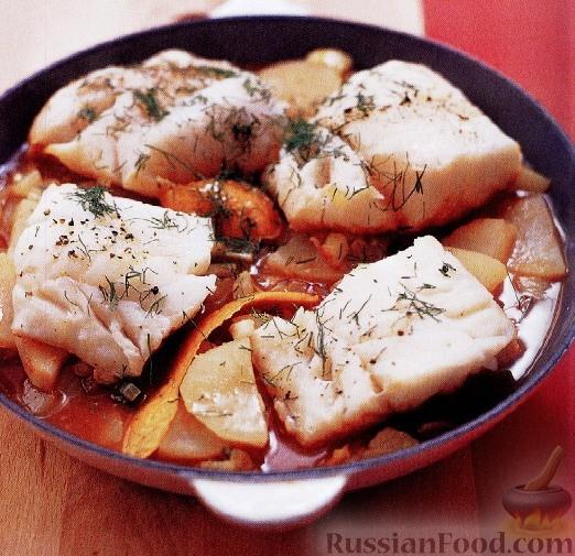 Рецепт Треска с фенхелем и картофелем