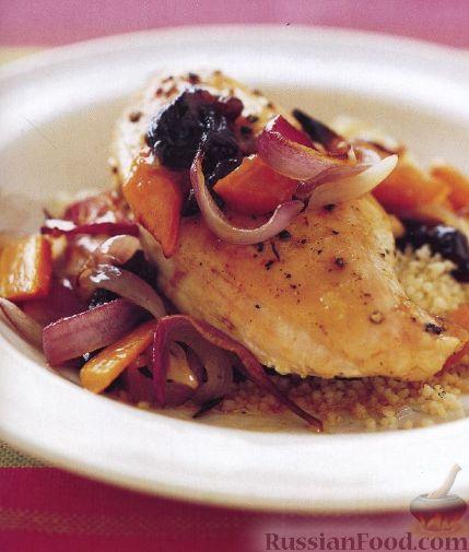 Рецепт Жареные куриные грудки с морковью и луком