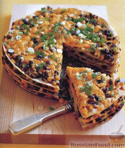 Рецепт Пирог с фасолью и кукурузой