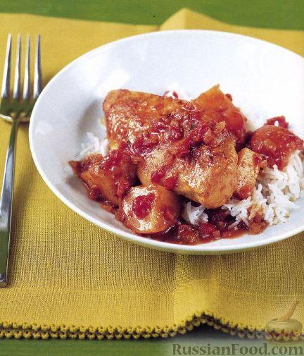 Рецепт Курица под соусом карри