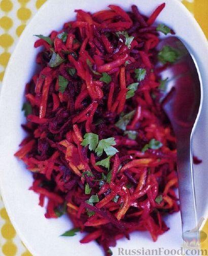 Рецепт Салат из свежей свеклы и моркови